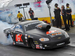 NHRA Pro Stock racer Erica Enders blasted her way to the early number one spot by posting a 6.624.