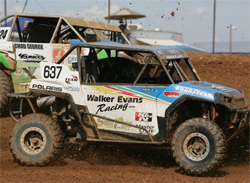 RJ Anderson of Walker Evans Racing goes through the UTV racing field at a LOORRS event in Surprise, Arizona, courtesy of JnL Photo