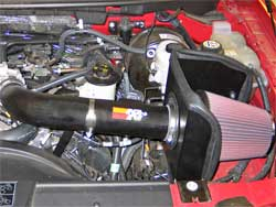 Air Intake Installed in Ford F-150
