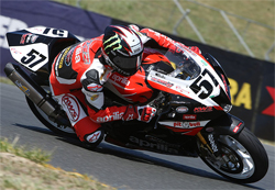 The Factory Aprilia Millennium Technologies Team will next race in the AMA Daytona SportBike Series at Road America