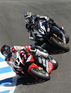 AMA Daytona SportBike Series Race hard fought battle for Factory Aprilia Millennium Technologies Team