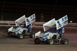 Team Faccinto brothers made it a first and second sweep at the Tachi Nationals Micro-Sprints event at Lemoore Raceway.