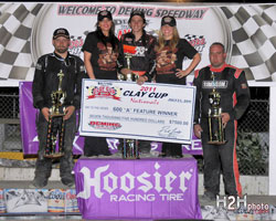 Michael Faccinto at the Podium at Deming Speedway