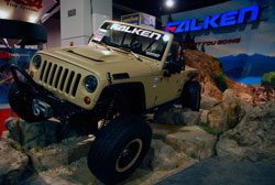 SEMA 2012 - The Falken Jeep has all the right modificaitons one could hope for when it comes to functionality