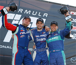 Vaughn Gittin, Jr., Darren McNamara and Tyler McQuarrie of Team Falken Tire make history at Formula Drift's New Jersey Gauntlet