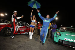 Very first Formula Drift win for Tyler McQuarrie. Photo By: Larry Chen of DriftFotos.com.