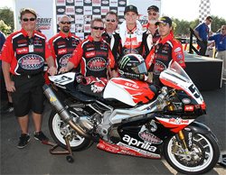 The Factory Aprilia Millennium Technologies Team finished in the top five in seven races during the 2009 season and also had a pair of podium finishes