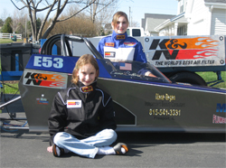 Fast Chicks Racing Team sisters Arley and Emma Ballard take on competitive Junior Dragster Class