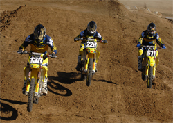 Team Fun Center Suzuki Riders Brady Sheren, Cole Seely and Michael Lapaglia will race next at Anaheim Stadium in California, photo by TonyScavo.com