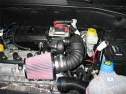 Air Intake Installed on Fiat Grande Punto