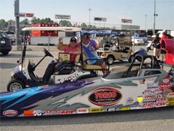 Kathy and Kevin Fisher Enjoy Reaching the Final Round at the IHRA President's Cup Nationals in Budds Creek, Maryland