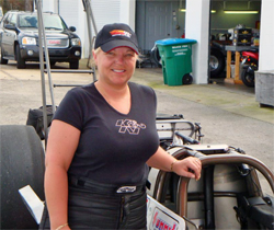 Kathy Fisher Successfully Completed Her First Pass in a Top Alcohol Dragster at Frank Hawley's Drag Racing School