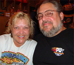 Racers Kathy and Kevin Fisher Attended the NHRA SportsNationals in Columbus, Ohio