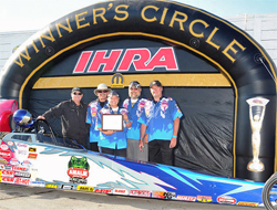 Kathy Fisher at the IHRA Mopar Canadian Nationals, photo by BME Photography