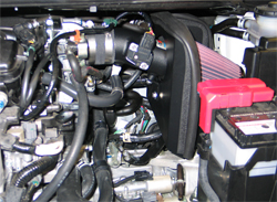 K&N air intake installed in 2009 Honda Fit
