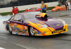 Dan Fletcher drove Rick Braun's Chevy Cobalt to his 57th National Event Win at the NHRA Winternationals in Pomona, California