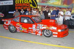 IHRA National Event Champions Folk Racing Team in Winner's Circle