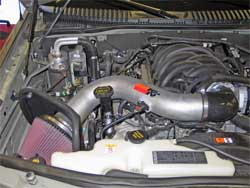Air Intake Installed in Ford Explorer