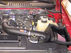 Air Intake Installed in Ford Expedition