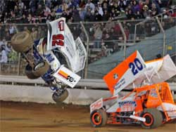 Forsberg tumbled in the air and landed at the flag stand in Placerville, California. Forsberg was eight feet off the ground.