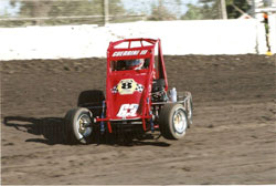 Frankie plans on moving into full-size midgets on dirt next year.