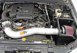 Nissan Frontier with K&N 77-6014-1KP prototype installed