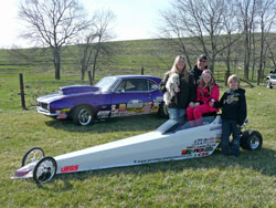 K&N's Furr Racing and two of their ever-growing stable of drag cars.