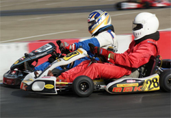 San Diego, California FX Team Driver Steve Wiener in the competitive TaG Superkarts Master Class