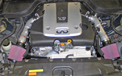 69-7082TS K&N air intake system installed in 2007 G35 Infiniti Sedan