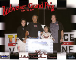 Eight-year-old Giovanni got his first ever double this year, successfully defending his 2009 Lemoore Jr. Sprint title, and winning his first championship in Visalia, California.