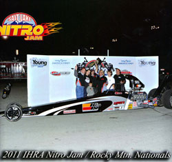 Sheldon Gecker grabs Top Dragster at 2011 IHRA Nitro Jam