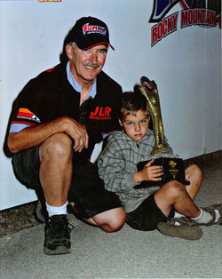 NHRA/IHRA Racer Sheldon Gecker and son