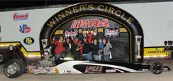 Second race of the season for Gecker and a Top Dragster Win! Photo by IHRA Communications/IHRA.com.