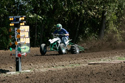 Gary Armstrong races a Yamaha-sponsored YFZ450 and is in third place in the Pacific Northwest Dirt Drag Racing Series sport bike standings.