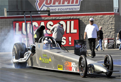 Geoff Nelson wins Top Dragster at the NHRA Lucas Oil Drag Racing Series, Division 7 event at The Strip at Las Vegas Motor Speedway