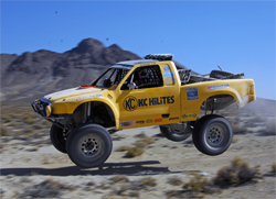 Modified Full Size Unlimited Ford Pickup produced around 700 horsepower in the Best in the Desert Vegas to Reno Race, photo by EventPhotoDigital.com