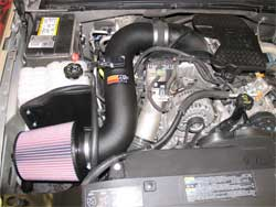 57-3057 K&N air intake system installed in 2006 Chevrolet Silverado 2500 HD