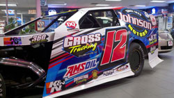GR Motorsports' Jason Gross had started last in the heat and managed to work his way up prior to the final lap and earn the victory.