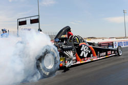 Greg Boutte and his K&N/Lucas Oil/Hughes Super Comp Dragster