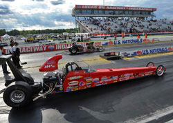 Greg Kamplain's Competition Eliminator Dragster qualified 6th for the US Nationals