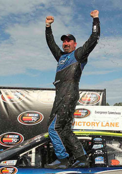 Greg Pursley won the NASCAR K&N Pro Series West race at Evergreen Speedway