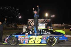 Greg Pursley wins K&N Pro Series West championshiop even though he didn't complete a single lap before he crashed in turn four.
