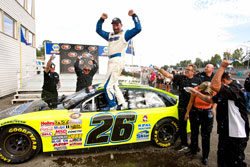 Greg Pursley celebrate K&N Pro-Series Race at Portland International Raceway