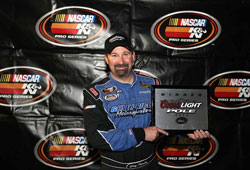 K&N Pro Series' Pursley set the track record with a qualifying lap at 133.949 mph and won the Coors Light Pole Award.