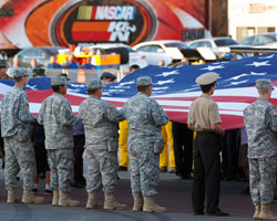 US Military Members were on site to pay tribute to the United States Armed Forces