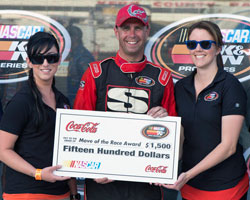 K&N representatives were in attendance that night and presented the Coca-Cola Move of the Race award