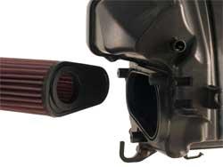 K&N Air Filter goes face down into the CB600F Hornet air box
