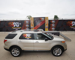 The 2011 K&N Horsepower Challenge Sweepstakes Prize was a 2011 Ford Explorer won by Harold Goldberg