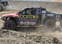 Carey Hart is ready for round two of LOORRS racing action in Lake Elsinore, California on July 25-26