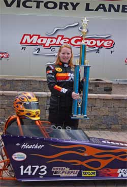 Heather Bell will move from Junior Dragsters to Front Engine Dragsters after her high school graduation